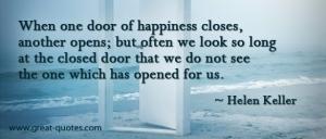 When one door closes another door opens...